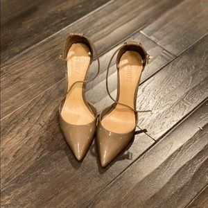 Taupe Patent Leather Pump